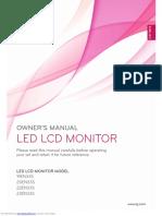 led lcd Manual