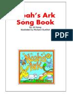1 Noah's Ark CD A4 Song Book Cover