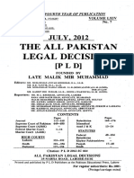 the all pakistan legal decition