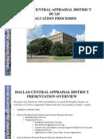 DALLAS CENTRAL APPRAISAL DISTRICT [DCAD] VALUATION PROCESSES
