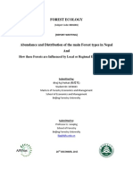 Abundance and Distribution of the main Forests Types in Nepal and How these Forests are influenced by Ecological Factors