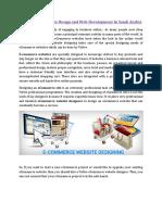 Ecommerce Website Design and Web Development In Saudi Arabia