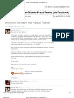 Entrevista com João Gilberto Prado Pereira (via Facebook)