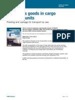 DangerousgoodsincargotransportunitsPackingandcarriagefortransportbysea