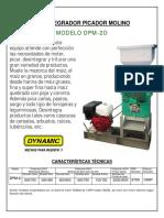 DYNAMIC - Desintegrador Picador Molino DPM2D