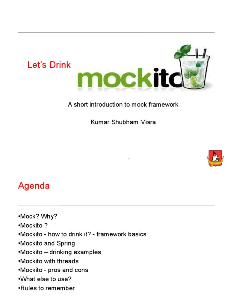 Mockito Framework   Method (Computer Programming)   Boolean