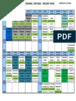 Schedule English Track Semester 2 2015-2016