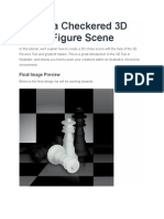 Adobe Ilustrator CS6 - Create a Checkered 3D Chess Figure Scene