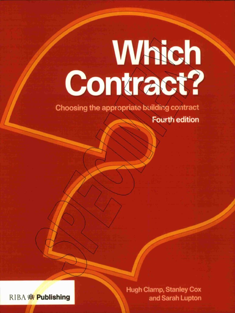 Which Contract Choosing Appropriate Building Contract