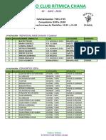Jornada Mañana-III Trofeo Club Rítmcia Chana 2016