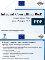 Lansare Fp7 - Prezentare Proiect Integral Consulting