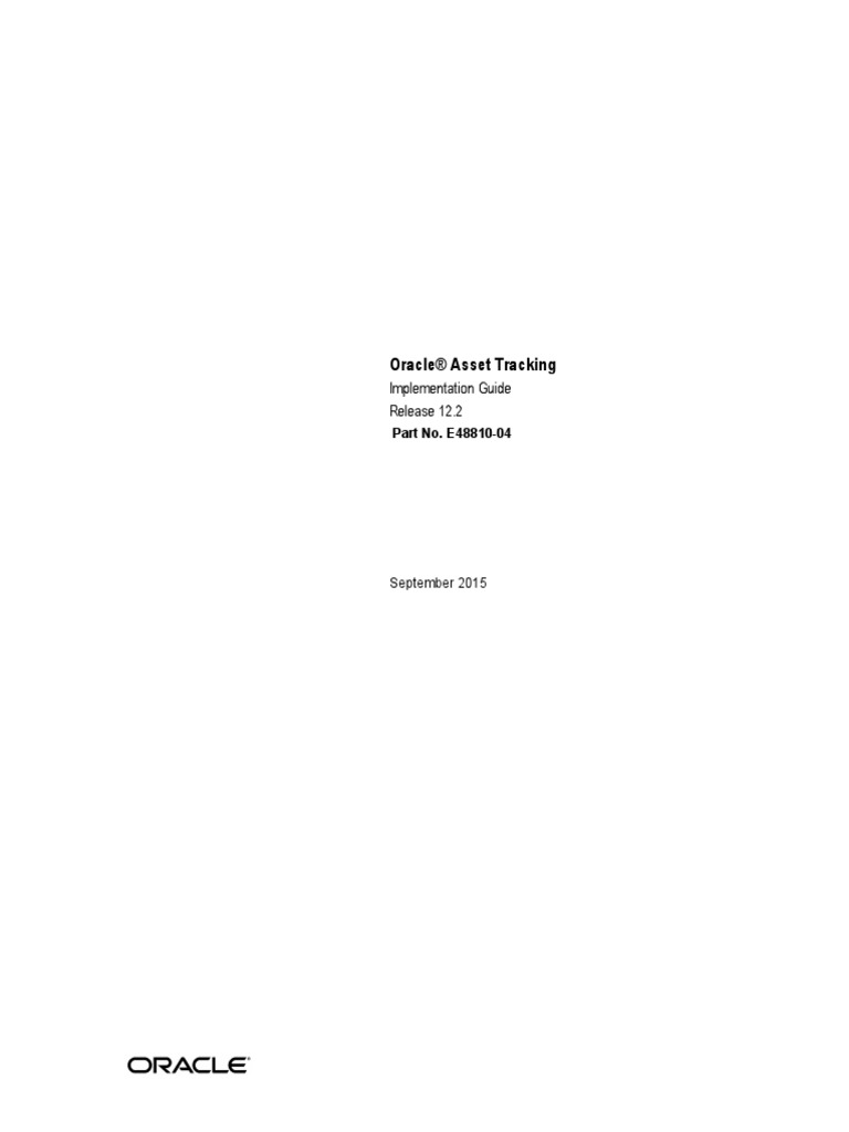 r12 2 asset tracking implementation guide application programming rh scribd com Fixed Asset Life Table Oracle R12 Fixed Assets