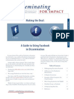A Guide to Using Facebook in Dissemination