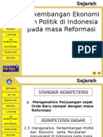 Perkembangan Politik Pasca Reformasi