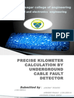 Precise Kilometer Calculation by Underground Cable Fault Detector