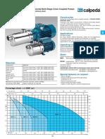 Calpeda MXH Horizontal Multistage Pumps