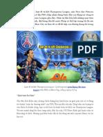 Xem Bong Da Truc Tuyen PSG vs Man City