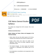 CSE Mains General Studies Syllabus - 2016-2017 UPSCsyllabus.in