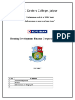 Bba Project on hdfc bank
