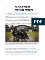 The Science That Made Stephen Hawking