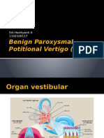 Benign Paroxysmal Potitional Vertigo (BPPV)