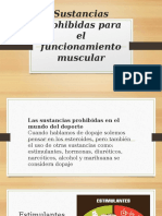 Sustancias Prohibidas Para El Funcionamiento Muscular