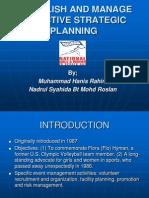 Establish and Manage Effective Strategic Planning