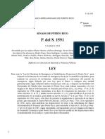 PS 1591 para crear Ley de Moratoria de Emergencia y Rehabilitación Fiananciera de Puerto Rico