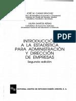 Estadistica Para Administracion de Empresas (Casas, Santos)