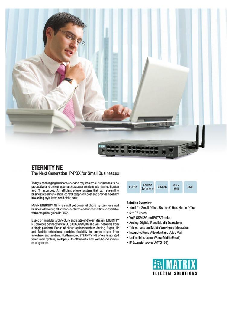 Matrix Eternity Ne Pbx Brochure | Voice Over Ip | Session Initiation ...