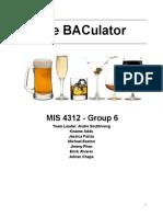 BACulator Mobile Application