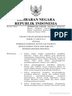 UU No 22 Tahun 2014