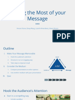 Making the Most of your Message