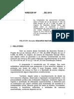2. Parecer e Emendas CAS 4 - Eduardo Suplicy - 2013