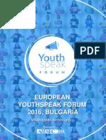 Europe Youth Speak Forum - April 2016