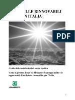 Dossier Stop alle rinnovabili in Italia 2015