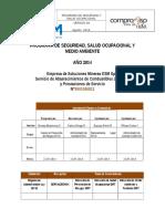 Plan SSMA ESM Spa- Combustible 2014