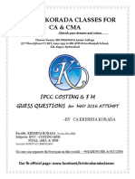 IPCC Costing and FM Guess Questions Cover Page (2)