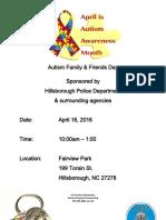 Autism Awareness Event Hillsborough