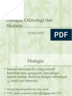 Disfagia, Odinofagi Dan Akalasia
