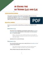Irregular Verbs Rules Lay Lie