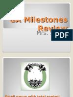 2016  ga milestones ppt for review