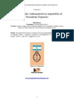 Comisión 2 Irregularidades Administrativas imputables al Presidente Perón