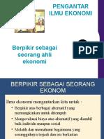 Berpikir Sebagai Seorang Ekonomi