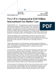 US Department of Justice Official Release - 01531-05 tax 485