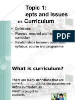 Introduction to Curriculum (1)