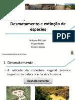 Desmatamento e extinção de espécies