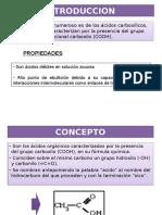 Acidos carboxilicos Introduccion y Concepto