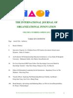 Oraganizationl Innovation Final Issue Vol 4 Num 4 Spring 2012