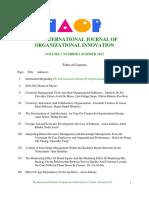 Organizational Innovation Final Issue Vol 5 Num 1 Summer 2012 Revised